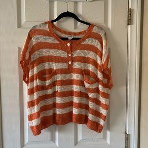 Stripe orange sweater